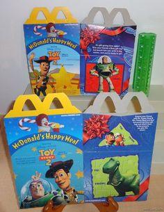 Toy Story 2 Set of 2 McDonald's Disney Pixar 1999 Happy Meal Boxes