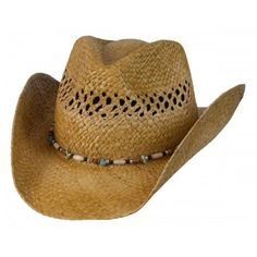 28b835098dc38 Conner Hats Women Gem Ladies Western Raffia Straw Hat One Size US