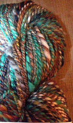 Merino Hand spun wool yarn Real Tree Camo Worsted by BWwoolery, $36.00