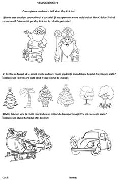 Anul Nou, Christmas Crafts, Merry Christmas, Cool Kids, Worksheets, Diagram, Printables, Education, Fun