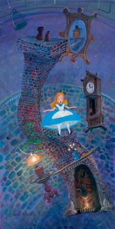 Disney Fine Art Giclee ALICE FLOATING INTO WONDERLAND by Harrison Ellenshaw  | eBay