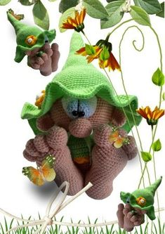 Hello, Here is a PDF crochet guide for a cute little leprechaun with big feet. He is 35 cm high. The guide has 19 pages and is exactly described and with many photos. This offer is a crochet instruction and not the finished figure. The following crochet k