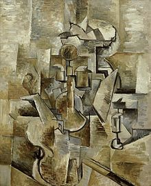 Georges Braque, 1909, Still Life with Metronome (Still Life with Mandola and Metronome), oil on canvas, 81 x 54.1 cm, Metropolitan Museum of Art - Georges Braque - Wikipedia, the free encyclopedia