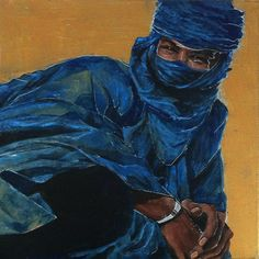 Tuareg on gold by RedAbsinthium on DeviantArt D D Characters, Character Portraits, Arabian Nights, Dungeons And Dragons, Shades Of Blue, Character Design, African, Culture, Deviantart