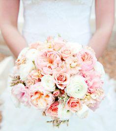 Peach blush bouquet