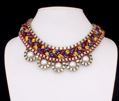 Vogue Crafts & Designs Pvt. Ltd. manufactures Braid and Pearls Necklace at wholesale prices.
