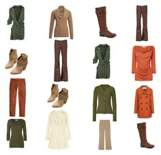"""""""Winter Olive, Cream and Rust/Beige Capsule Wardrobe in Autumn Colours"""" by bec-robbie ❤ liked on Polyvore featuring Zara, Lucien Pellat-Finet, 3.1 Phillip Lim, Madden Girl, Burberry, Michael Stars, Nina Ricci, CC, Citizens of Humanity and L.K.Bennett"""