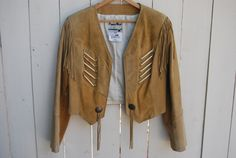 SAND BRONCO Leather Suede Fringe Western Style by velvetundergown, $70.00