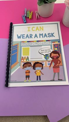 Wearing a mask, or seeing other people wear masks, can cause uncertainty, curiosity, or anxiety in many children. This social story was created to bring an understanding to children, about how and why we are currently wearing masks. This story is one that many children will be able to relate to and connect with. This story has a color and also black/white option for your printing preferences. Click here to create your social story today! Social Stories, Curiosity, Learning Activities, Distance, Create Yourself, Boy Or Girl, Connect, Anxiety, Masks