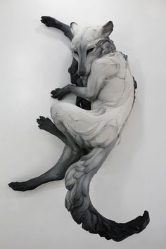 """"""" """" Come Undone by Beth Cavener Stichter A gallery of ceramic sculpture. It's rare to feel as if an animal can possess you—inhabit your body, mind and spirit as if it were a new lover. Art Sculpture, Animal Sculptures, Rabbit Sculpture, Clay Sculptures, Stone Sculpture, Modern Art, Contemporary Art, Instalation Art, Modelos 3d"""