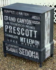 I love this so much...what a perfect idea for our old dresser. (Thanks TwiceLovely!)