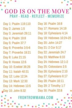 God is on the Move - 30 Day Scripture Writing Plan. Set aside 20 minutes a day to Pray, Read, Reflect and Memorize the Word. by Gloria Garcia