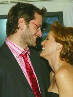 Peter Herman with Mariska Hargitay laughing