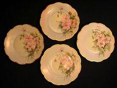 Antique Haviland Limoges Porcelain Cake Dessert Plates Hand Painted from antiqueporcelaingallery on Ruby Lane
