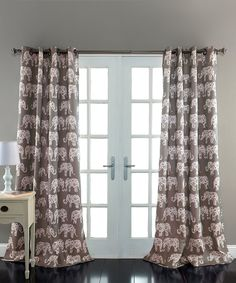 Take a look at this Gray Ella Room-Darkening Curtain Panel - Set of Two today!