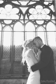 Location and picture: abandoned church, St. Louis Wedding Photographer, Charis Rowland Photography