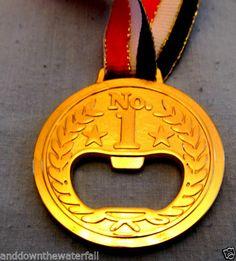 Gold Medal Bottle Opener Beer Olympics Sports Winners Trophy Funny Joke LOL Fun | eBay