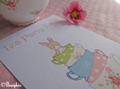 tea party invite idea