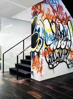 The Aedis: Street Graffiti as Interior Art? The Aedis: Street Graffiti as Interior Art? Images Graffiti, Graffiti Artwork, Graffiti Bedroom, Graffiti Piece, Graffiti Wallpaper, Interior Inspiration, Design Inspiration, Interior Ideas, Deco Cool