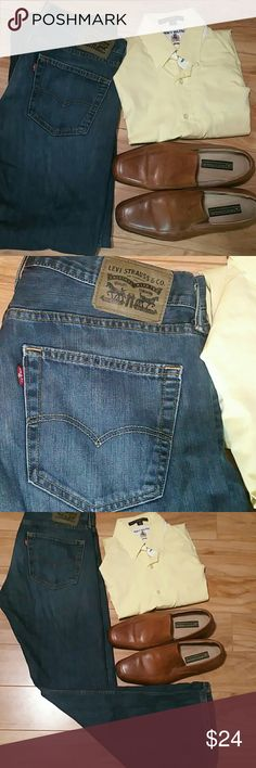 Levis 527 Bootcut  size 34 x 30 Levi's 527slim boot cut jeans have a lower rise, are slim in the seat and thigh, and boast a boot cut from knee to ankle.NWOT Levi's Jeans Bootcut