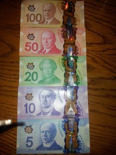 rainbow colored money.. says a lot about the canadians huh?