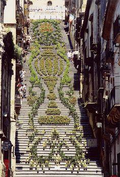 Freitreppe Santa Maria del Monte -Caltagirone, Sizilien