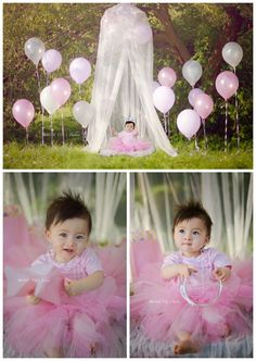 Use netting as part of photo. Cool idea! I already have that netting! Got to remember to use it one day for our little girl's photo's!