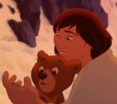 Brother Bear. I kind of wish that Kenai could have stayed human AND talk to Koda, instead of becoming a bear again.