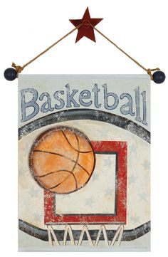 hand painted sports wall hangings 16x20 by AveQcollection on Etsy