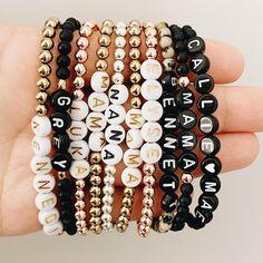 Rave Bracelets, Letter Bead Bracelets, Letter Beads, Initial Bracelet, Beaded Bracelets, Diy Jewelry, Jewelry Making, Beaded Jewelry, Diy Necklace