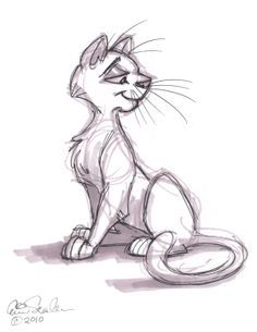 June 2010 cartoon drawings, drawings of cats, animal drawings, pencil drawi Cartoon Drawings Of Animals, Cartoon Sketches, Animal Sketches, Drawing Sketches, Cartoon Cats, Pencil Drawings, Sketching, Cat Drawing, Character Drawing