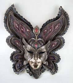 Art Nouveau Bronzed Venetian BUTTERFLY Wall Mask NEW - eBay (item 280644444363 end time Aug-12-11 04:06:43 PDT)