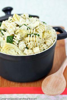 Artichoke and Spinach Pasta Salad