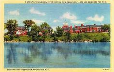 Rochester New York NY 1934 University of Rochester River Campus Vintage Postcard