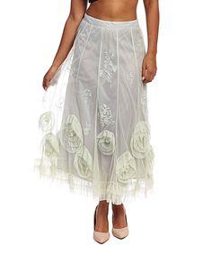 Another great find on #zulily! Nataya Mint Rosette Skirt - Women by Nataya #zulilyfinds