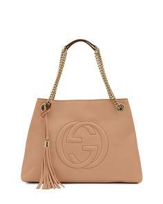 7ceabcf35f3a3 Gucci Soho Leather Medium Chain-Strap Tote