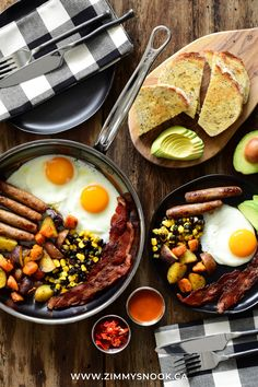 #SundayBrunch as we watch a light snowfall cover trees out back. Sunny side up eggs, crispy bacon, breakfast sausages, fried sweet potato & little potatoes, black beans & corn, avocado and multigrain toast. Where would you start? Happy ☀️day y'all! #brunch #eggs #eggsandbacon #breakfast #brunch Breakfast Sausages, Bacon Breakfast, Breakfast Recipes, Black Bean Corn, Black Beans, Little Potatoes, Multigrain, Sunday Brunch, Cobb Salad