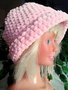 Superweiche rosa Mütze
