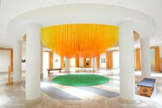 'letting go' - hot tea (eric reiger), 2012 [installation using 84 Miles of coloured string + video] String Installation, Colossal Art, Street House, Street Artists, American Artists, My House, House Wall, Letting Go, Let It Be