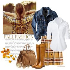 """""""Then, in November..."""" by archimedes16 on Polyvore I think we can wear brown and yellow, so long as we don't have it too close to our faces."""