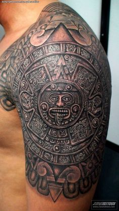33 Aztec Half Sleeve Tattoos 15 aztec tattoo designs and 125 tribal tattoos for men with meanings & tips wild image detail for aztec tattoos o d tattoodonkey mexican st. Bild Tattoos, Body Art Tattoos, Ship Tattoos, Tatoos, Chicano Tattoos, Fake Tattoos, Forearm Tattoos, Aztec Tattoos Sleeve, Tribal Shoulder Tattoos