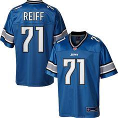 f023dfaf38b Men's Pro Line Detroit Lions Riley Reiff Team Color Jersey Jason Hanson,  Football Gear,