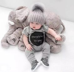 Adorable Soft and Sweet Baby Elephant Pillow - Order Now!