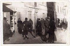 Lublin, Poland, 1940, Jews in a ghetto street.