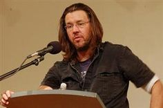 """""""I do things like get in a taxi and say, """"The library, and step on it.""""  — David Foster Wallace"""