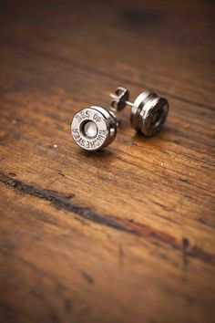 Earrings made from 40 Caliber Shell Casings from @Bourbon and Boots