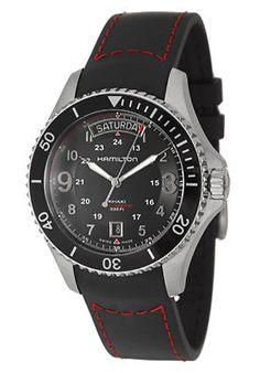 9541cc28270c Hamilton Men s Khaki King Pilot Black Day Date Dial Watch - Cloxz Online  Watch Store
