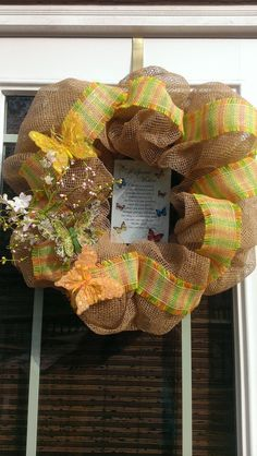 For a Special Mother Burlap Mother's Day Wreath with by MisSuenos, $40.00