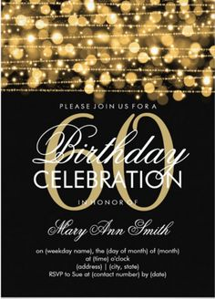 60th Birthday Invitation Template – 19 + Free PSD, Vector EPS, AI, Format Download | Free & Premium Templates
