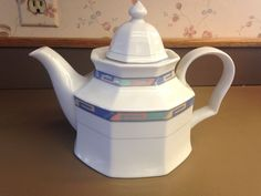 Christopher Stuart China Tea Pot SOUTHWEST Y0002 Southwestern Pattern teapot EUC #ChristopherStuart